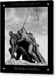 The Battle For Iwo Jima By Todd Krasovetz Acrylic Print by Todd Krasovetz