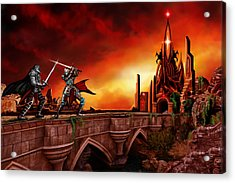 Acrylic Print featuring the painting The Battle For The Crystal Castle by James Christopher Hill