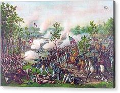 The Battle Of Atlanta, Acrylic Print by American School