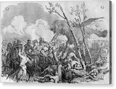 The Battle Of Bull Run Acrylic Print by War Is Hell Store