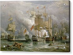 The Battle Of Cape St Vincent Acrylic Print