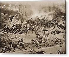 The Battle Of Champigny, November 30 Acrylic Print by Vintage Design Pics