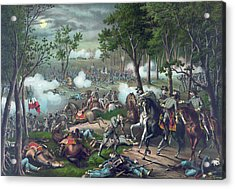 The Battle Of Chancellorsville Acrylic Print by American School