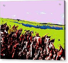 The Battle Of Gorseberry Plain Acrylic Print