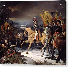 The Battle Of Hohenlinden Acrylic Print by Henri Frederic Schopin