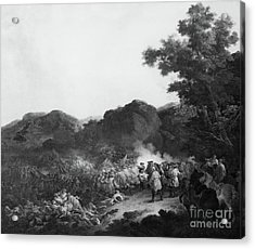 The Battle Of Lens Acrylic Print by Francesco Giuseppe Casanova