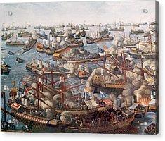 The Battle Of Lepanto, The Fleet Acrylic Print by Everett