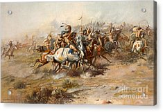 The Battle Of Little Bighorn Acrylic Print