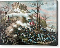 The Battle Of Lookout Mountain  Acrylic Print