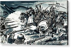 The Battle Of Nagashino In 1575 Acrylic Print