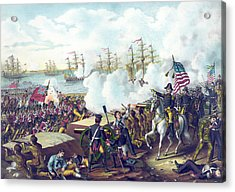 The Battle Of New Orleans Acrylic Print by American School
