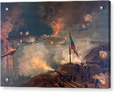 The Battle Of Port Hudson, 1863  Acrylic Print