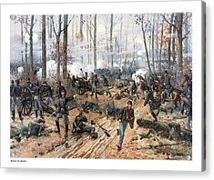 The Battle Of Shiloh Acrylic Print by War Is Hell Store