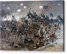 The Battle Of Spotsylvania Court House - Civil War Acrylic Print by War Is Hell Store