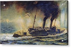 The Battle Of The Gulf Of Riga Acrylic Print by Mikhail Mikhailovich Semyonov