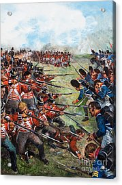 The Battle Of Waterloo, 1815 Acrylic Print by Clive Uptton