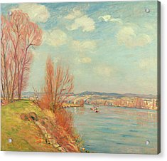 The Bay And The River Acrylic Print by Jean Baptiste Armand Guillaumin