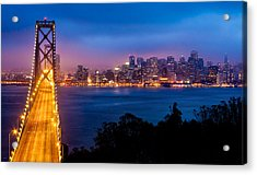 The Bay Bridge Acrylic Print by Alexis Birkill