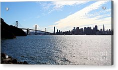The Bay Bridge And The San Francisco Skyline Viewed From Treasure Island . 7d7771 Acrylic Print by Wingsdomain Art and Photography