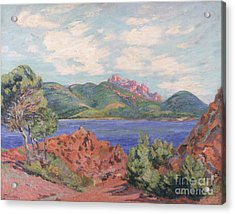 The Bay Of Agay Acrylic Print by Jean Baptiste Armand Guillaumin
