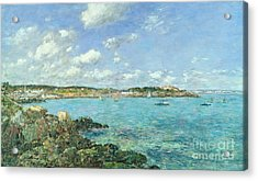The Bay Of Douarnenez Acrylic Print by Eugene Louis Boudin