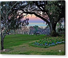 The Bay View Bench Acrylic Print