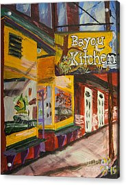 The Bayou Kitchen Acrylic Print