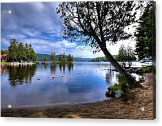 Acrylic Print featuring the photograph The Beach At Covewood Lodge by David Patterson