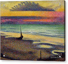 The Beach At Heist Acrylic Print by Georges Lemmen