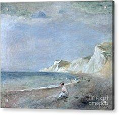 The Beach At Varangeville Acrylic Print by Renoir
