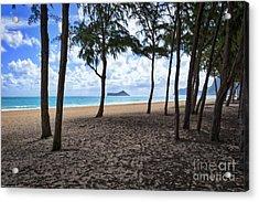 The Beach At Waimanalo Acrylic Print