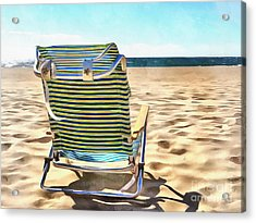 The Beach Chair 2 Acrylic Print by Edward Fielding