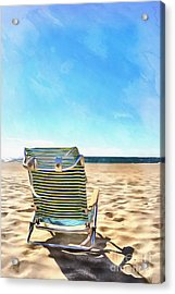 The Beach Chair Acrylic Print by Edward Fielding