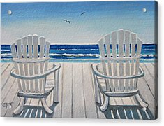 The Beach Chairs Acrylic Print