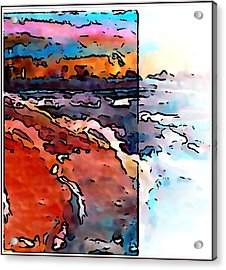The Beach Acrylic Print by Gregory McLaughlin