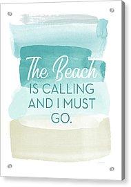 The Beach Is Calling- Art By Linda Woods Acrylic Print