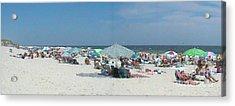 The Beach Merge Acrylic Print by Daniel Henning