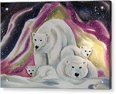 The Bear Family Acrylic Print by Amelie Gates