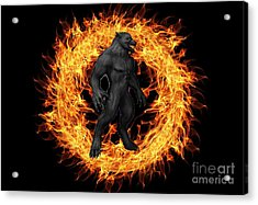 The Beast Emerges From The Ring Of Fire Acrylic Print