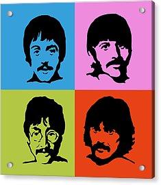 The Beatles Colors Acrylic Print