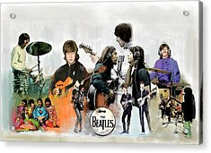 Acrylic Print featuring the painting The Beatles Fabs by Iconic Images Art Gallery David Pucciarelli