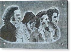 The Beatles  Acrylic Print by Jessica Hallberg