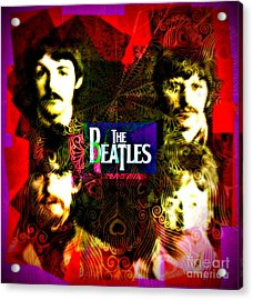 The Beatles Acrylic Print by Kevin Moore