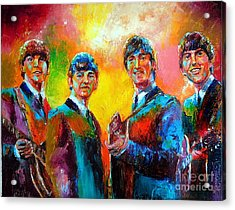 The Beatles Acrylic Print by Leland Castro