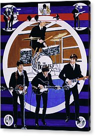 The Beatles - Live On The Ed Sullivan Show Acrylic Print by Sean Connolly
