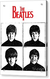 The Beatles No.12 Acrylic Print by Caio Caldas