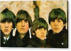 The Beatles Acrylic Print by Galeria Zullian  Trompiz