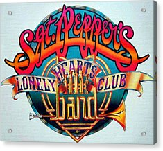 The Beatles Sgt. Pepper's Lonely Hearts Club Band Logo Painting 1967 Color Acrylic Print