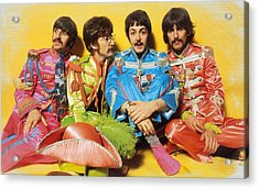 The Beatles Sgt. Pepper's Lonely Hearts Club Band Painting 1967 Color Acrylic Print