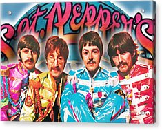 The Beatles Sgt. Pepper's Lonely Hearts Club Band Painting And Logo 1967 Color Acrylic Print